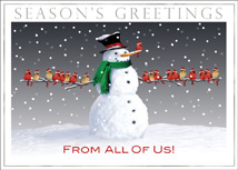 Friendly Frosty Holiday Cards