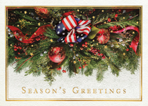 Majestic Garland Patriotic Holiday Cards